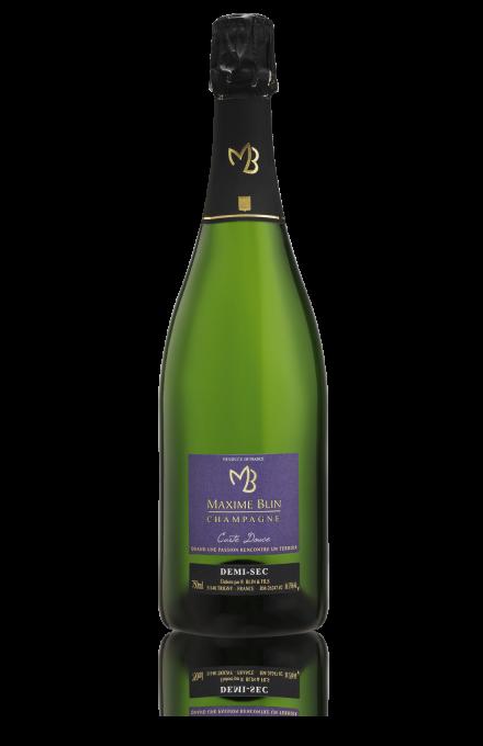 Champagne demi-sec carte douce du vigneron indépendant Maxime Blin