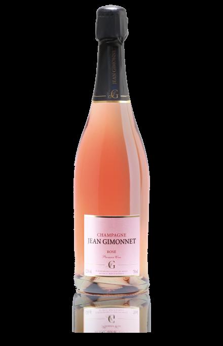Champagne Rosé du vigneron indépendant Jean Gimonnet